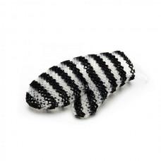 Stimulite Мочалка рукавичка. Чёрно-белая